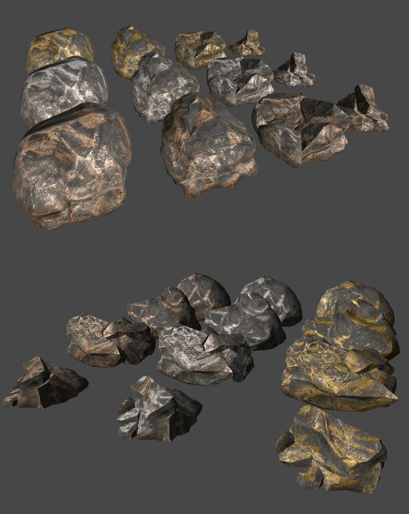 Камни изменили текстару и их становится меньше при добычи