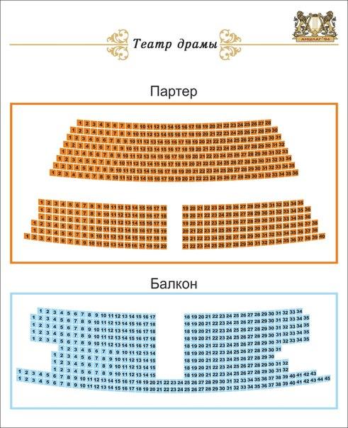 Схема зала самарского театра драмы.